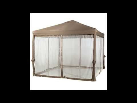 Abba Patio 10x10 Feet Fully enclosed Garden Canopy with Mesh Insect Screen   Brown