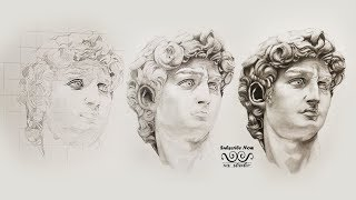 Easy How To Draw A REALISTIC FACE | David Sculpture by Michelangelo | WS Studio