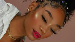 Flawless Skin + Hot Pink Lip Makeup Look | MakeupTiffanyJ