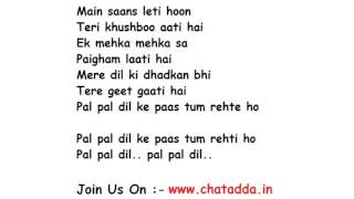 Dil Ke Paas Lyrics Full Song Lyrics Movie - Wajha Tum Ho