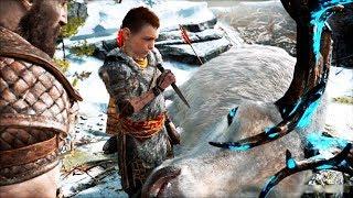 GOD OF WAR - Kratos and Atreus are Hunting Deer (all episodes) (God of War 4 best moments)
