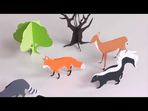 3-D Forest Animals| Ellison Education Lesson #12145