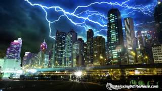 Thunder Sounds with Rain for Great Sleep | Rainstorm White Noise 10 Hours Relaxing Ambience