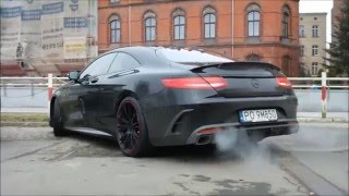 Brabus 850 6.0 Biturbo Coupe start up and acceleration in Wrocław