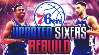 TRADING A 90 OVERALL! UPDATED 76ERS REBUILD! NBA 2K18