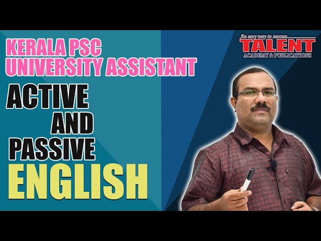Kerala PSC English Grammar Class - Active and Passive Voice