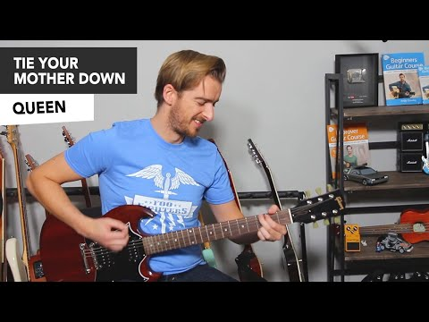 Queen - Tie Your Mother Down Guitar Lesson Tutorial