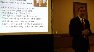 Tip of the Month- Never State Your Price First by Dennis Henson