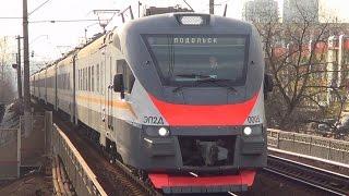 Поездка на новом электропоезде серии ЭП2Д (видеообзор салона)