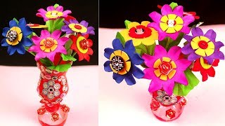 How to make unique flower vase from waste plastic bottle ... Flower Vase By Waste Material on shelf material, sculpture material, flower material, teapot material, water material, rococo material, quilt material, bird material, blanket material, box material, brick material, carpet material, valentine material, glass material, painting material, tablecloth material, basket material, terracotta material, rope material, heart material,