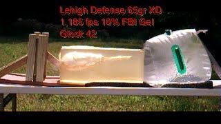 Lehigh Defense 380ACP 65gr Xtreme Defense vs Federal Hydra Shok Glock 42 Sheet Metal Test