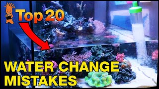 Water Change Mistakes to AVOID for an Awesome Reef Tank. No Really, Don't Do This!