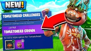NEW TOMATOHEAD CHALLENGES! How to Customize Tomato Head Skin in Fortnite Battle Royale!