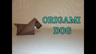 EASY ORIGAMI DOG DIY/ОРИГАМИ СОБАКА 2020