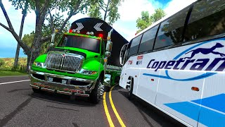 ¡Bus ACCIDENTA MI CAMIÓN! - ¿Imprudencia? - Colombia - American Truck Simulator
