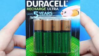 Review 4 x AA Duracell 2500 mAh Rechargeable NiMH Ultra Batteries HR6 LR6 MN1500 MIGNON Unboxing