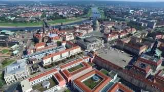 Dresden From Sky - 4K Drone Video
