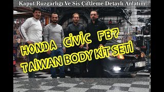 Honda Civic Fb7'ye Taiwan Plastik Custom Body Kit Yaptık!!