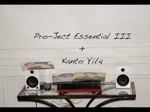 Table tournante Pro-Ject Essential III et hauts-parleurs KantoYU4