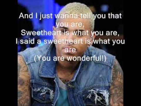 Download Chris Brown - Sweetheart Lyrics HD Mp4 3GP Video and MP3