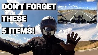 Five Things To Always Carry on a Motorcycle Trip