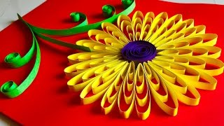 Diy quilling miniature 3d flower pot how to make 3d flower pot quilling flowers tutorial sunflower paper quelling wall hanging decoration arts and crafts mightylinksfo