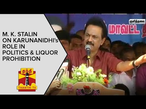 M-K-Stalin-on-Karunanidhis-Role-in-Politics-and-Liquor-Prohibition--Thanthi-TV
