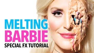Melting Barbie halloween makeup tutorial - Video Youtube