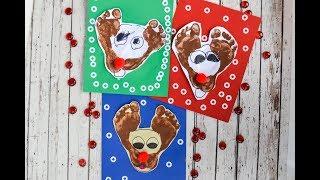 Rudolf The Reindeer Footprint Craft Tutorial