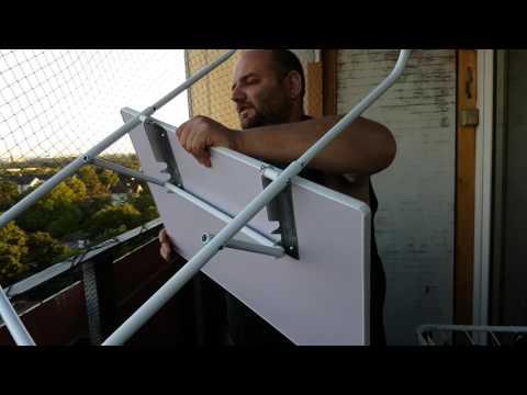 Unser Leben 72 Lustig Röggelchen erklärt Nachbarin wie der Balkontisch aufgebaut wird