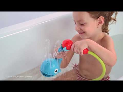 Submarine Spray Whale Baby Bath Toys Yookidoo