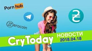 CryToday - Борьба за свободу Telegram, Pornhub принимает криптовалюту. Новости Криптовалют