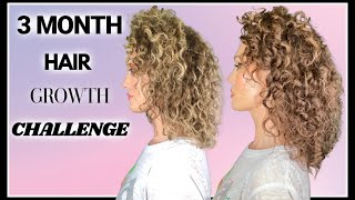 3 MONTH HAIR GROWTH CHALLENGE RESULTS   The Glam Belle