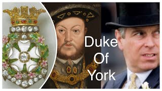 A Brief History Of The Dukes Of York - Celebrate Yorkshire Day