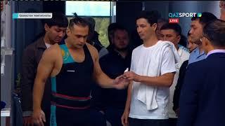 Выступление Ильи Ильина на чемпионате Казахстана по тяжелой атлетике