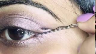 Bobby pin eyeliner hack! - Video Youtube