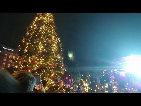 Αθήνα: Φωταγωγήθηκε το χριστουγεννιάτικο δέντρο στο Σύνταγμα…