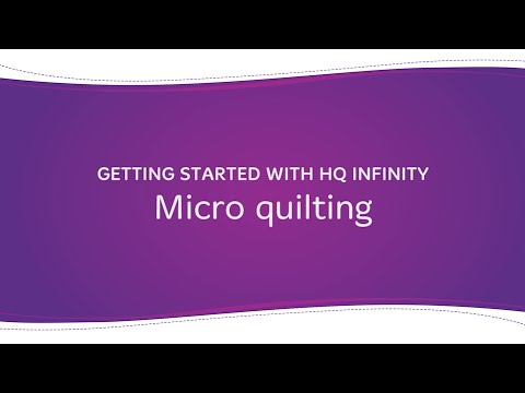 HQ Infinity - Micro Quilting