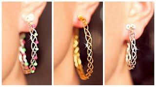 3 EASY Braided Earrings!   Earrings DIY   SIMPLE DIY