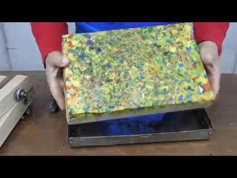 como hacer tabla de picar con tapas plásticas