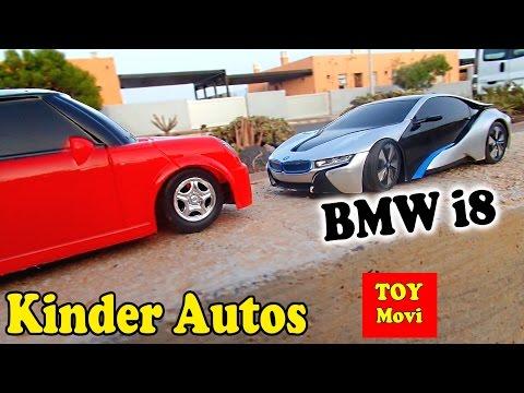 Kinder Auto Film Spielzeugautos - Cars Bmw i8 Concept Mini Cooper - Toys for Kids Race 4K
