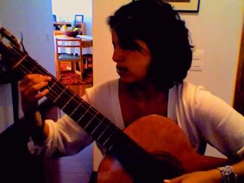 "Playing Some classical guitar "" Fantasía "" by Gentil Montaña"