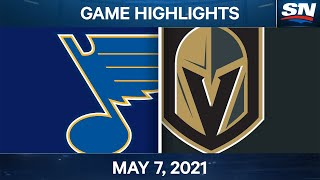 NHL Game Highlights | Blues vs. Golden Knights - May 7, 2021