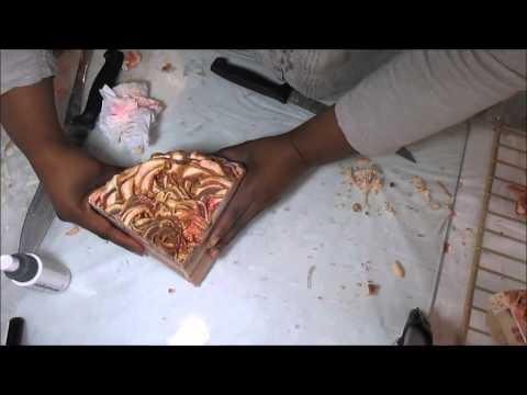 Cutting White Chocolate Macadamia Soap Cake