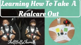 Learning How to take a Realcare baby out in public