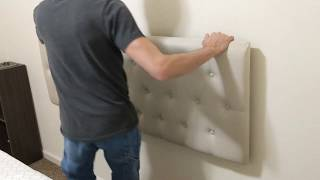 HOW TO HANG A HEADBOARD FROM START TO FINISH | HOW TO MOUNT A ZINUS HEADBOARD ON THE WALL