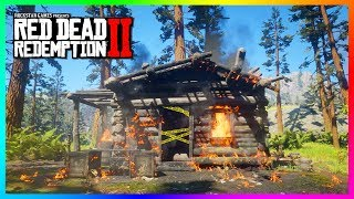 What Happens If You Go Inside The Burning Cabin Of Evelyn Miller In Red Dead Redemption 2? (RDR2)