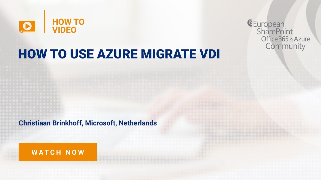 How To use Azure Migrate VDI