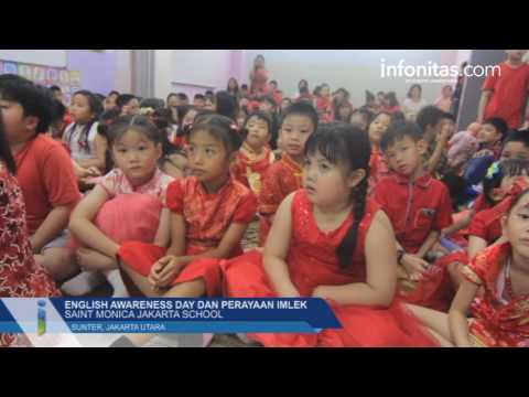 English Awareness Day & Perayaan Imlek di Saint Monica Jakarta School
