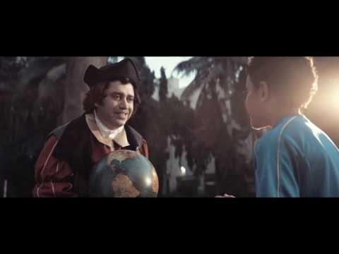 me in horlicks ad playing columbus(with hat).